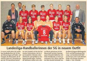 Landesliga-Handballerinnen der SG in neuem Outfit
